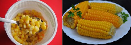 зёрна и початки кукурузы